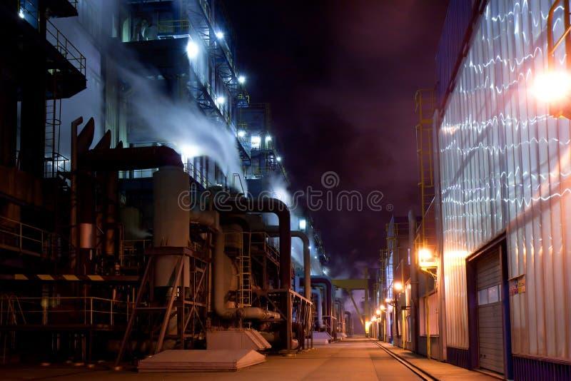 nigt för lighting för byggnadsindustri arkivfoton