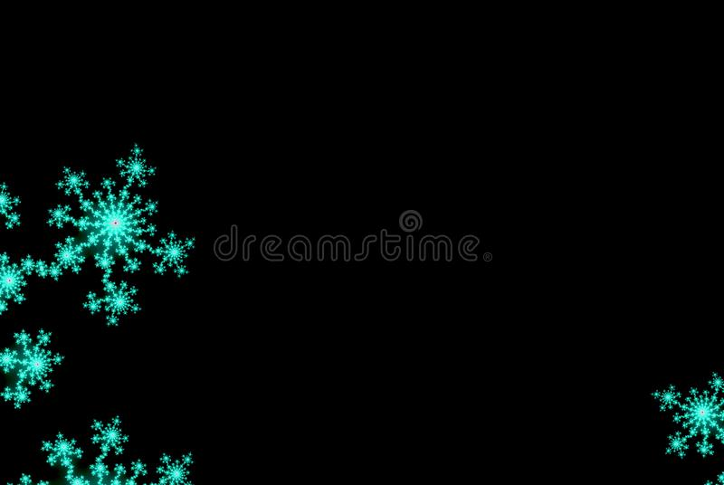 Nigth background with abstract snowflakes, flowers or stars for card or invitation with copy space. Nigth background with abstract snowflakes, flowers or stars vector illustration