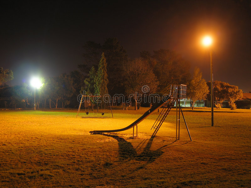 Download Nigth Park stock image. Image of copy, lamp, eery, trees - 525103