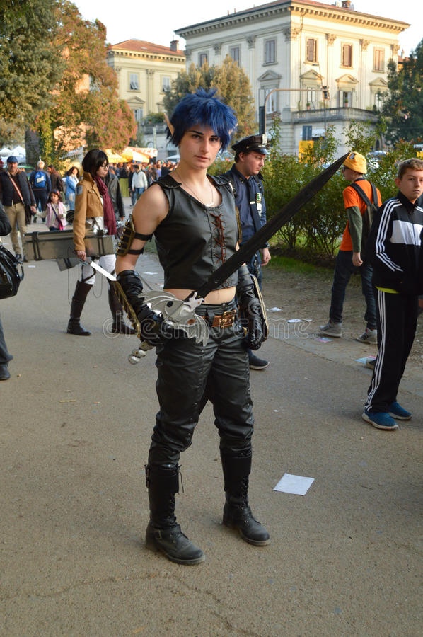 Nihal cosplayer at Lucca Comics and Games 2014 royalty free stock images