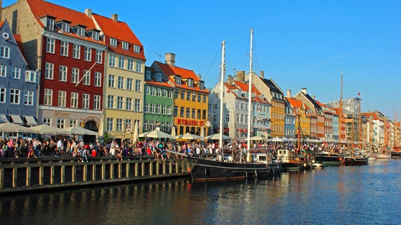 Nihavn - Köpenhamn, Danmark arkivbilder