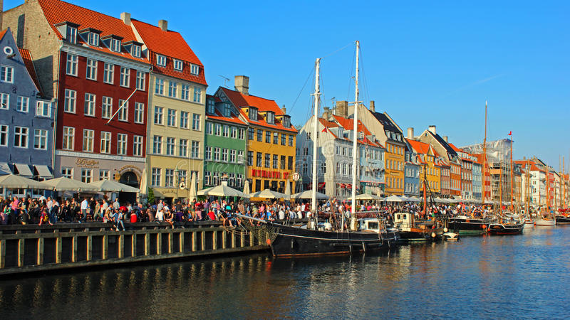 Nihavn - Kopenhagen, Dänemark stockbilder
