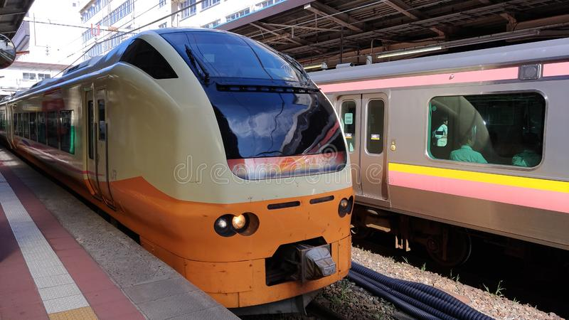 Inaho limited express train. service in Japan operated by East Japan Railway Company royalty free stock images