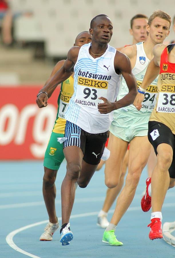 Nijel Amos de Botswana imagem de stock royalty free