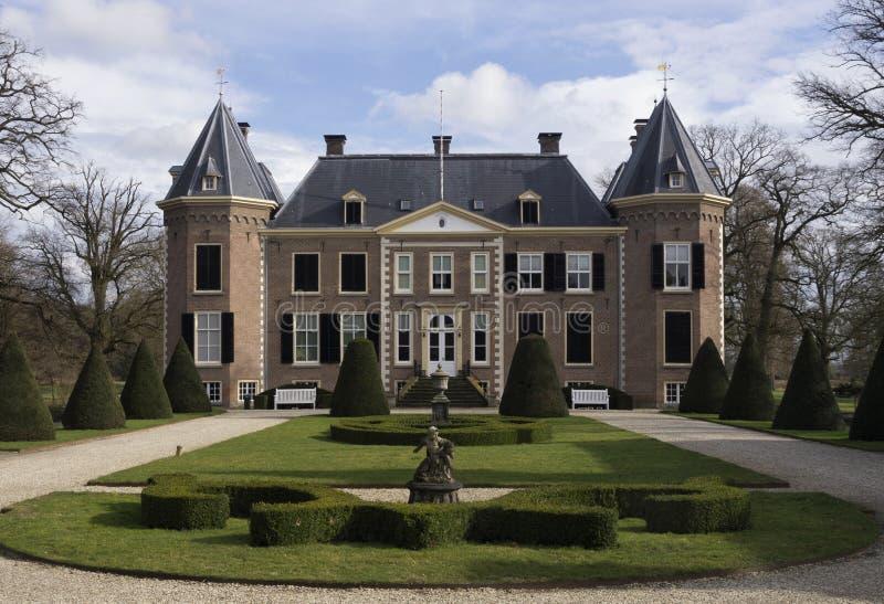 Nijenhuis slott nära Diepenheim royaltyfria bilder