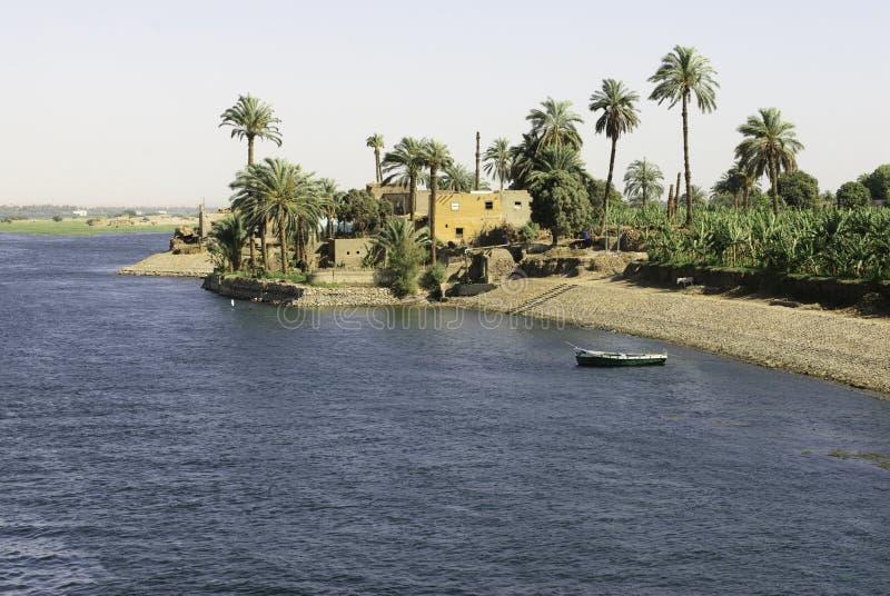Nijl in Egypte royalty-vrije stock afbeelding