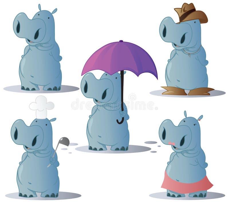Nijlpaard vector illustratie