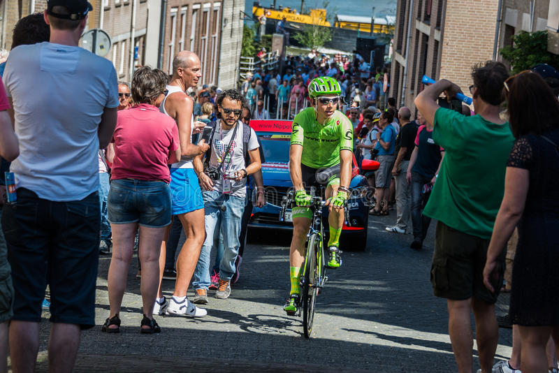 Nijmegen, 8 de maio de 2016 holandês; Ciclista profissional de Davide Formolo durante transferência fotos de stock royalty free