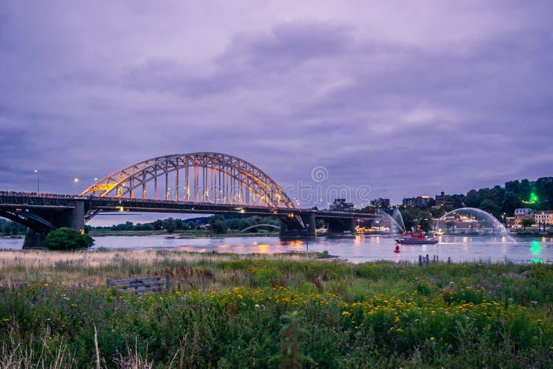 Nijmegen Nederländerna 16 Juli 2019 royaltyfri bild