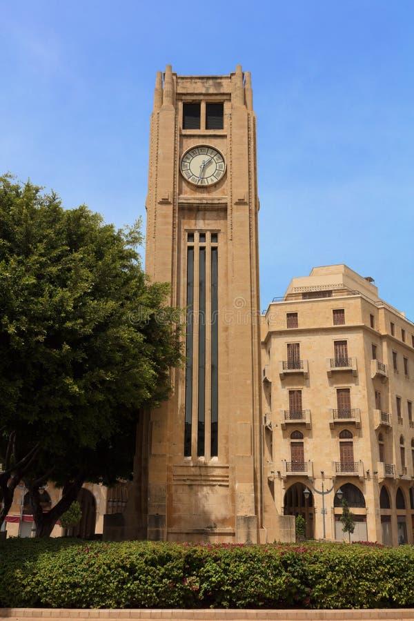 Nijmeh τετραγωνική στο κέντρο της πόλης Βηρυττός Λίβανος στοκ φωτογραφία με δικαίωμα ελεύθερης χρήσης