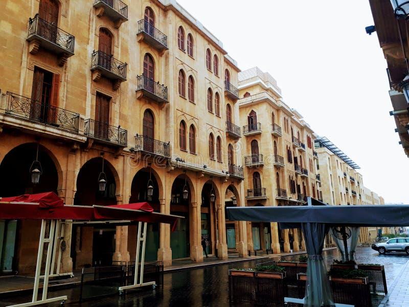 Nijmeh kwadrat w Bejrut, Liban - fotografia stock