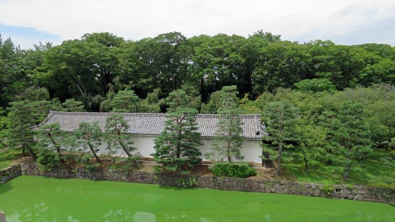 Nijo城堡护城河在京都 库存图片