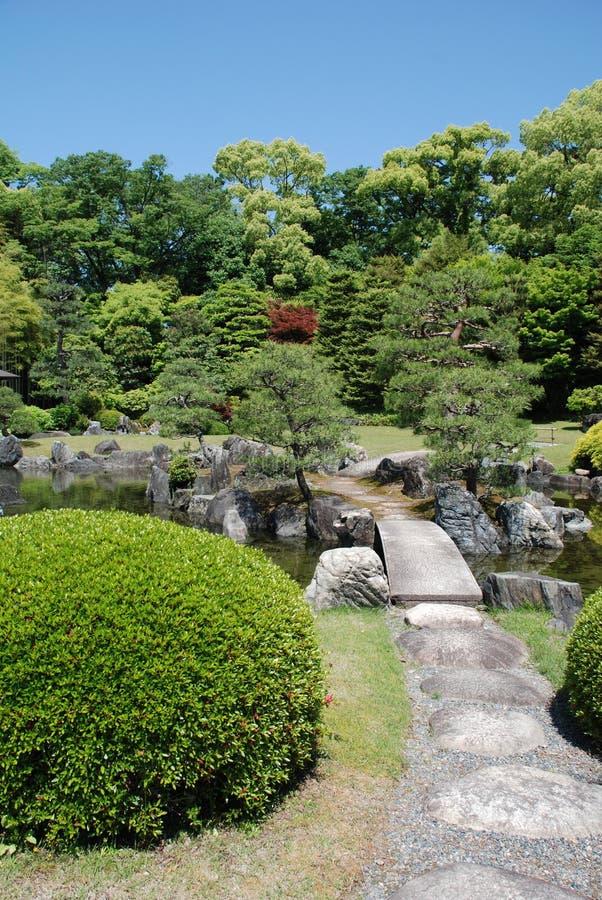 Nijo Castle Gardens, Kyoto royalty free stock image