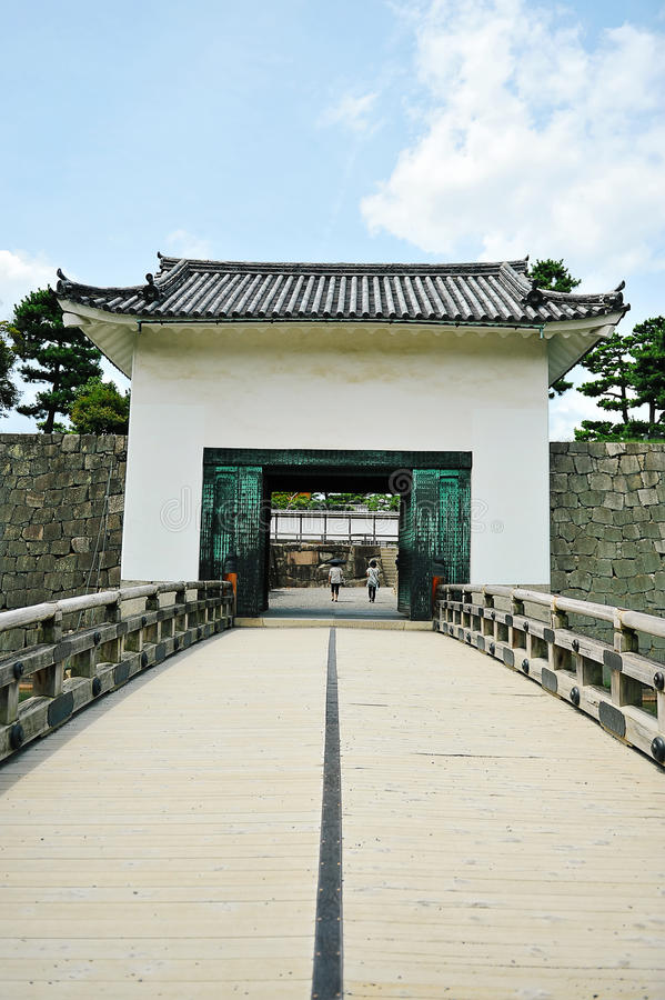 Nijo Castle in Kyoto (Japan) stock photography