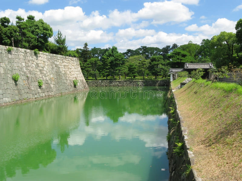 Nijo castle moat royalty free stock image