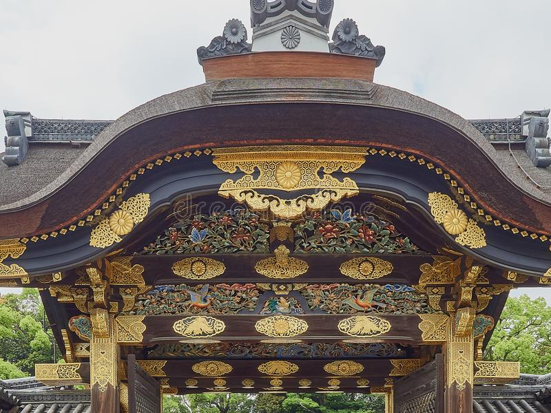 Nijo Castle Entrance royalty free stock photo