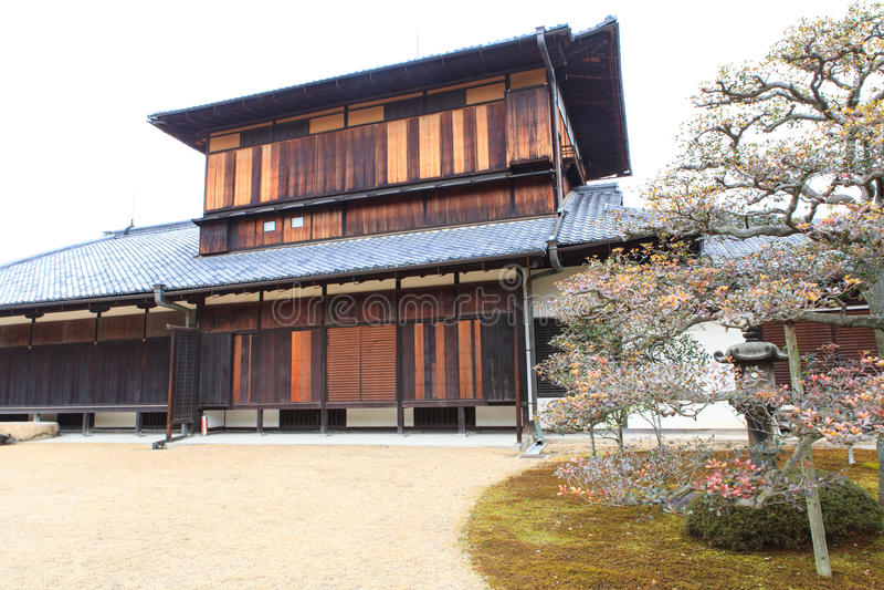 Nijo Castle in Winter Season. Kyoto Japan royalty free stock photos