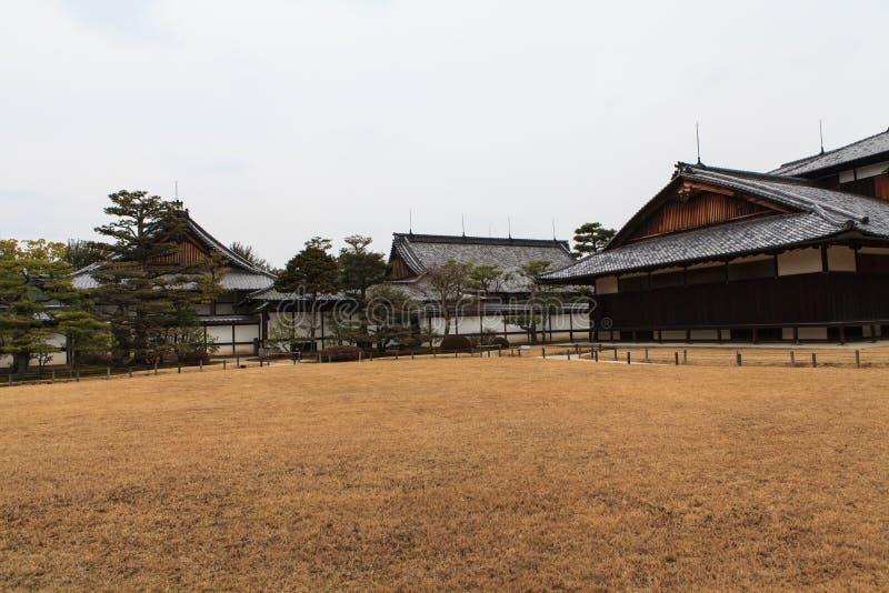 Nijo Castle in Winter Season. Kyoto Japan royalty free stock photography