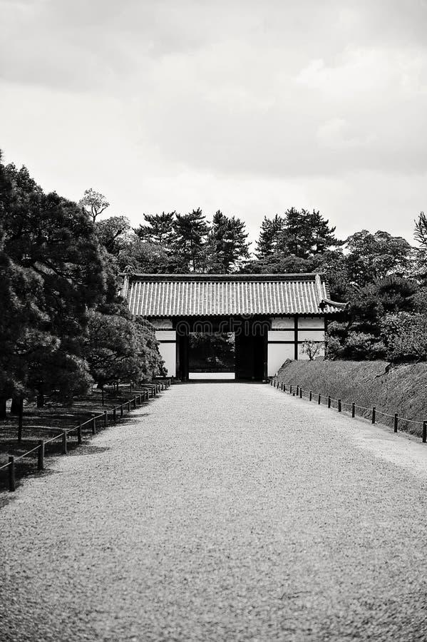 Nijo Schloss in Kyoto (Japan) stockbilder