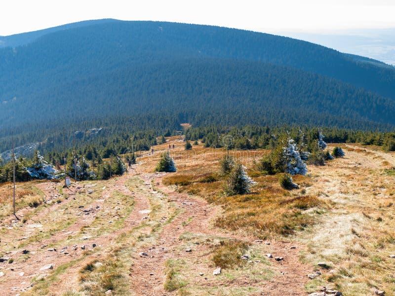 Nik del ¼ de ÅšnieÅ, el pico más alto del macizo del nik del ¼ de ÅšnieÅ imágenes de archivo libres de regalías