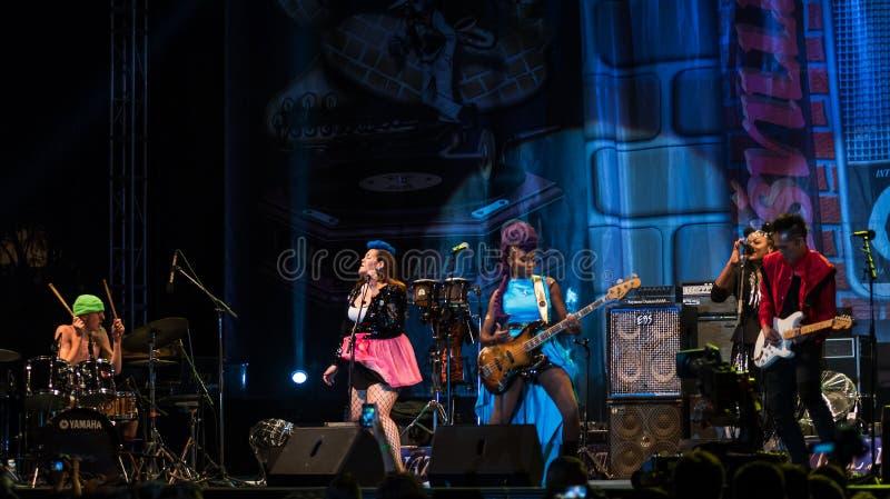 Nik West levend in Nisville Jazz Festival, 11 Augustus 2017 royalty-vrije stock foto's