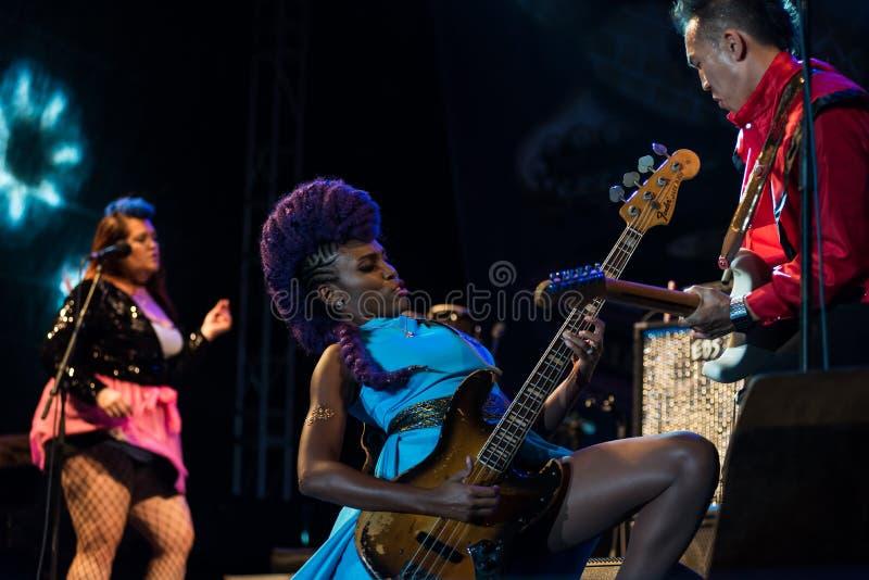 Nik West Live bei Nisville Jazz Festival, am 11. August 2017 stockfoto