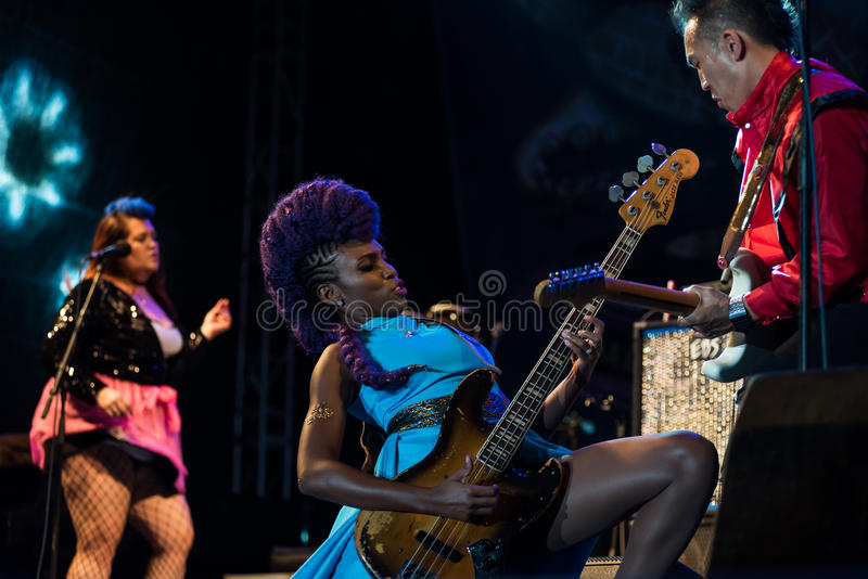 Nik West in tensione a Nisville Jazz Festival, l'11 agosto 2017 fotografia stock