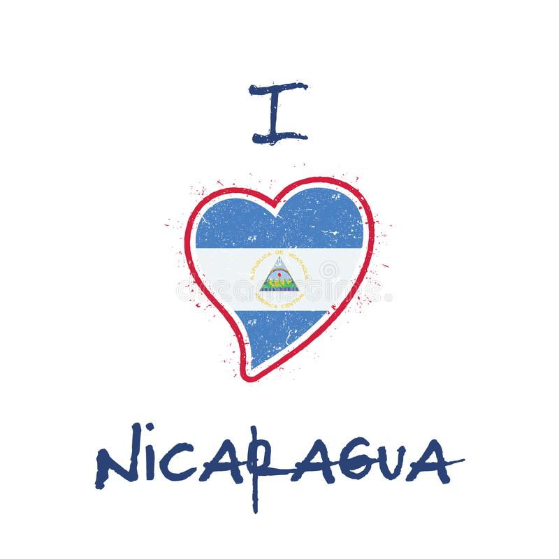 Nikaraguański chorągwiany patriotyczny koszulka projekt royalty ilustracja