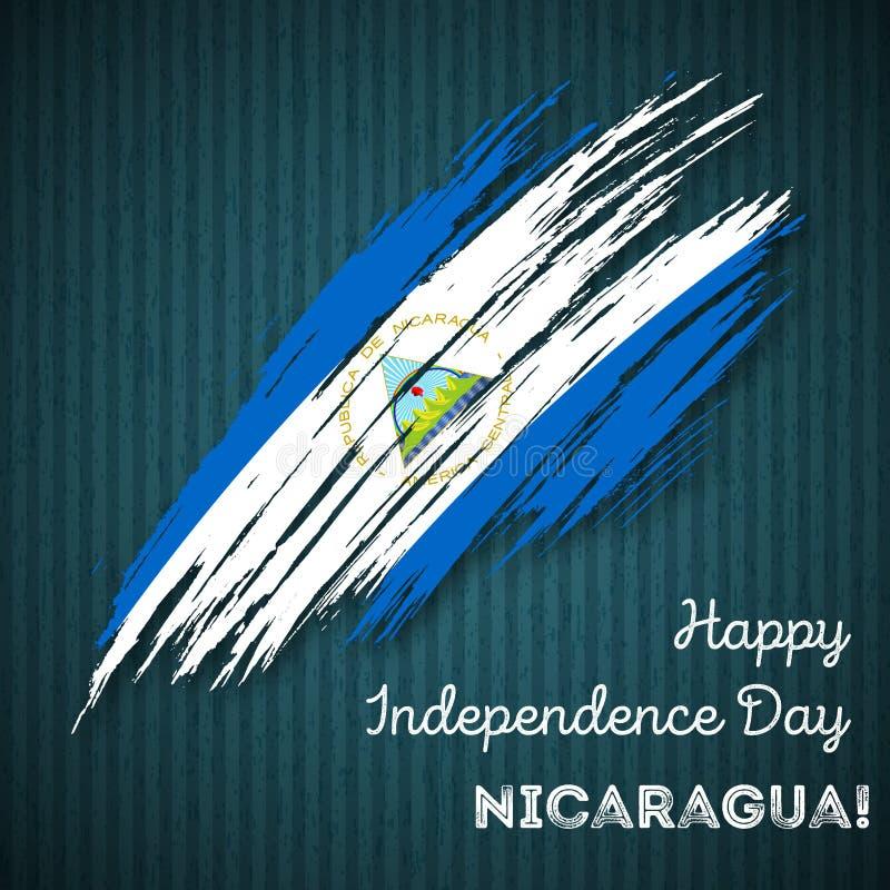Nikaragua dnia niepodległości Patriotyczny projekt ilustracji