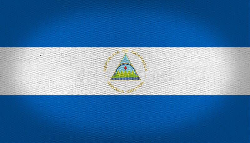 Nikaragua flaga ilustracja wektor