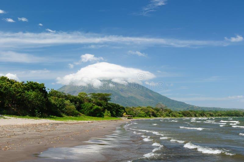 Nikaragua, krajobrazy na Ometepe wyspie zdjęcia royalty free