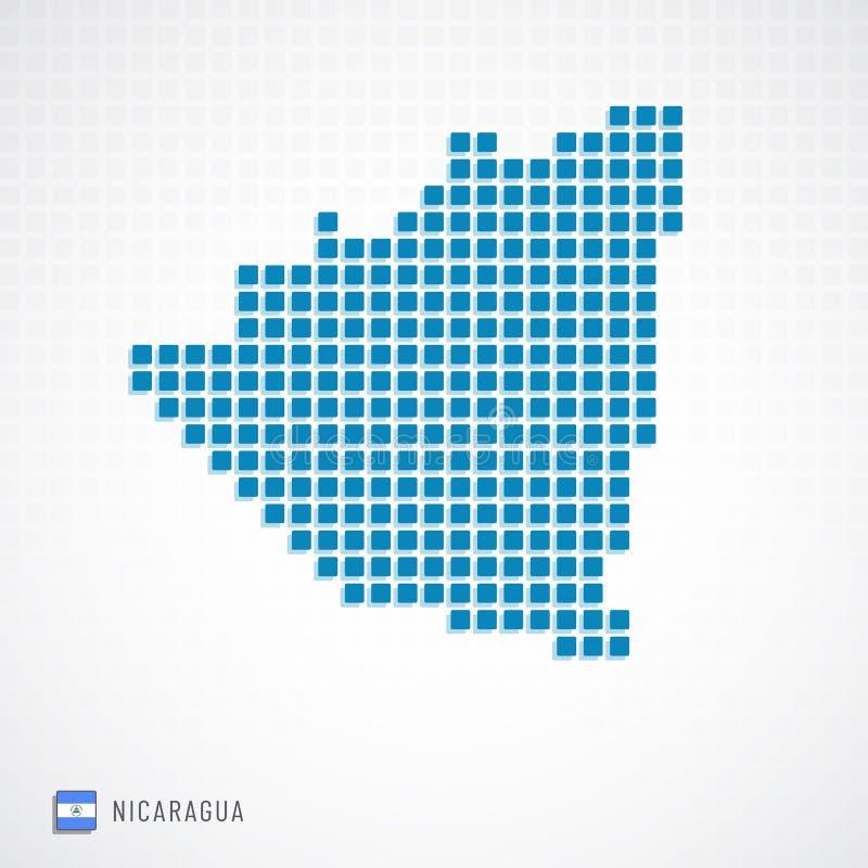 Nikaragua mapa i flaga ikona ilustracja wektor