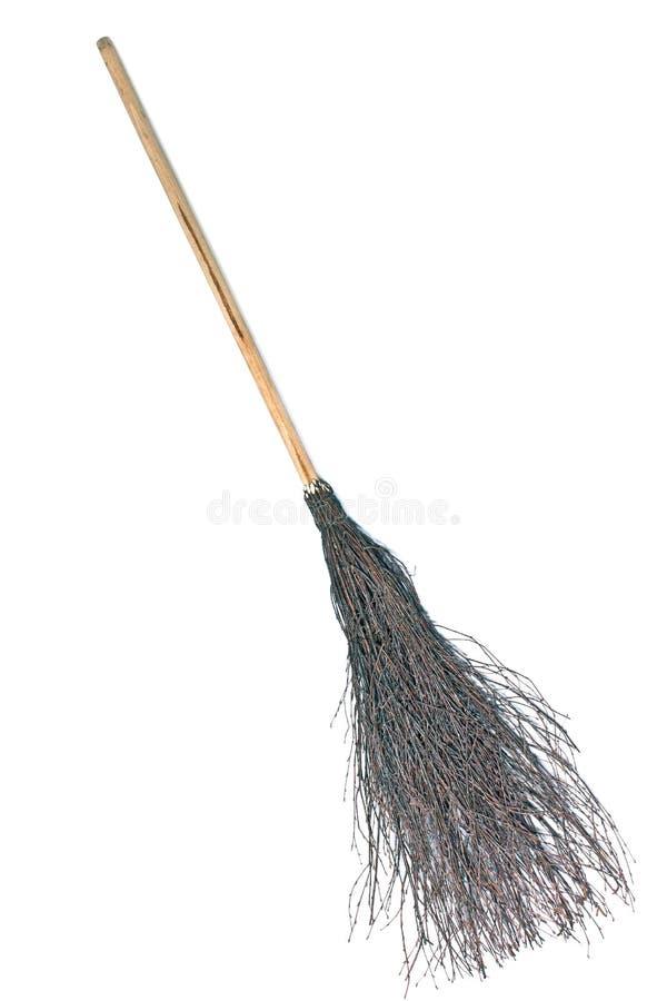 Nikczemna miotła - czarownicy broomstick obraz stock