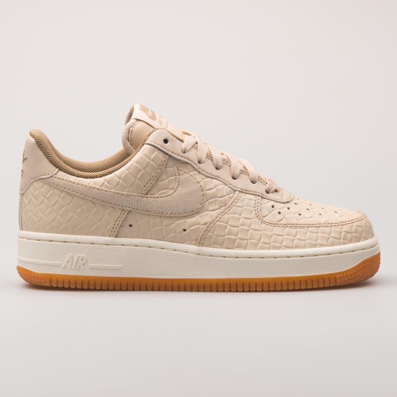 Free Nike Air Force 1 07 Premium Khaki Sneaker Royalty Free Stock Photos - 146330558