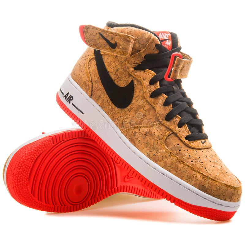 Free Nike Air Force 1 Mid 07 Cork Sneaker Stock Images - 134948184