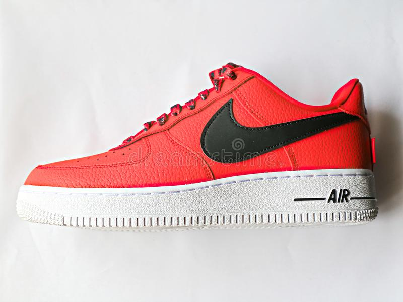 Nike Air Force 1 Lage 07 NBA royalty-vrije stock afbeelding