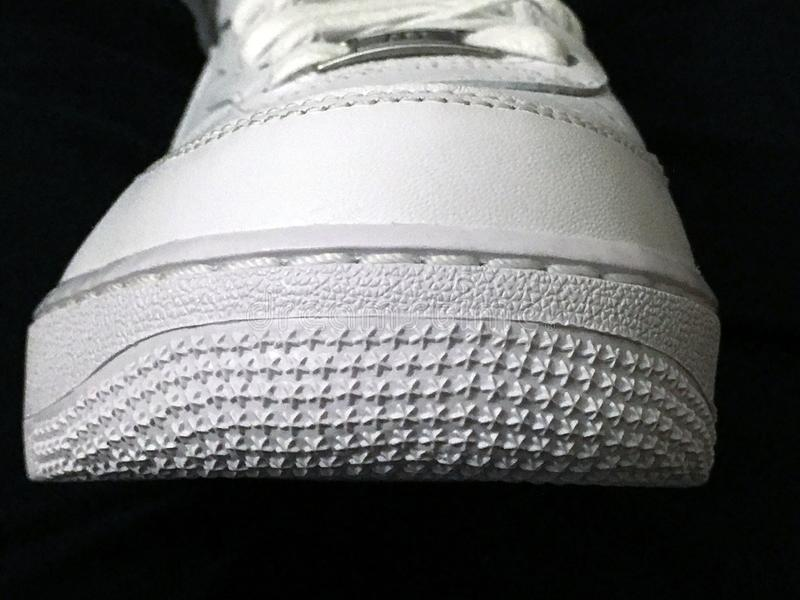 Nike Air Force One-schoenen royalty-vrije stock foto