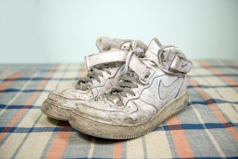 Nike Air Force One-schoenen royalty-vrije stock afbeeldingen