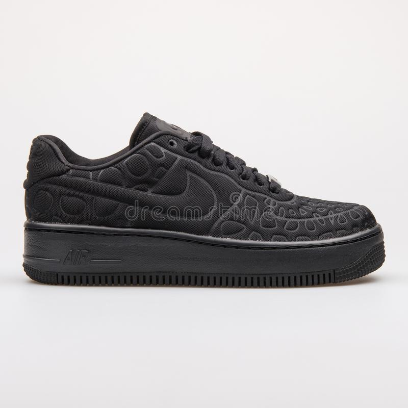 WMNS Nike Af1 Upstep Air Force 1 Low Black White Leather
