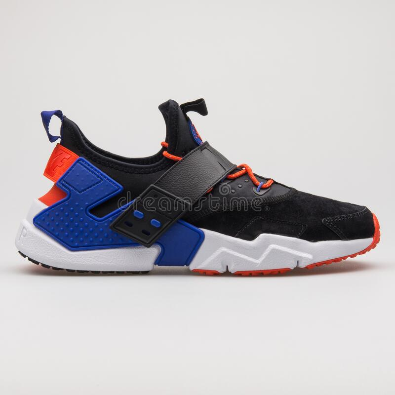 Nike Air Huarache Drift Premium Black, Blue, Red And White Sneaker ...