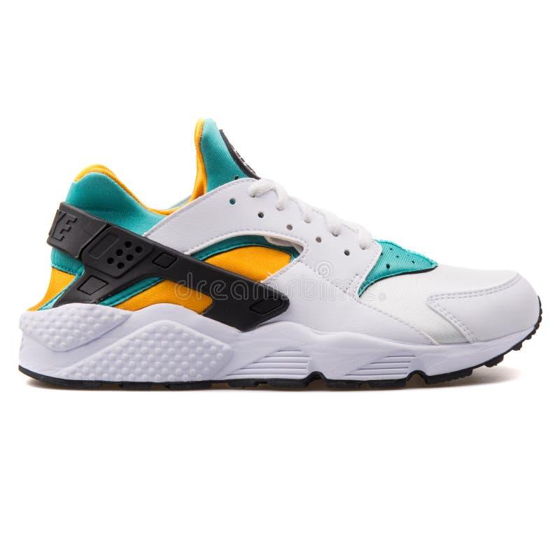Nike Air Huarache White, Green, Yellow