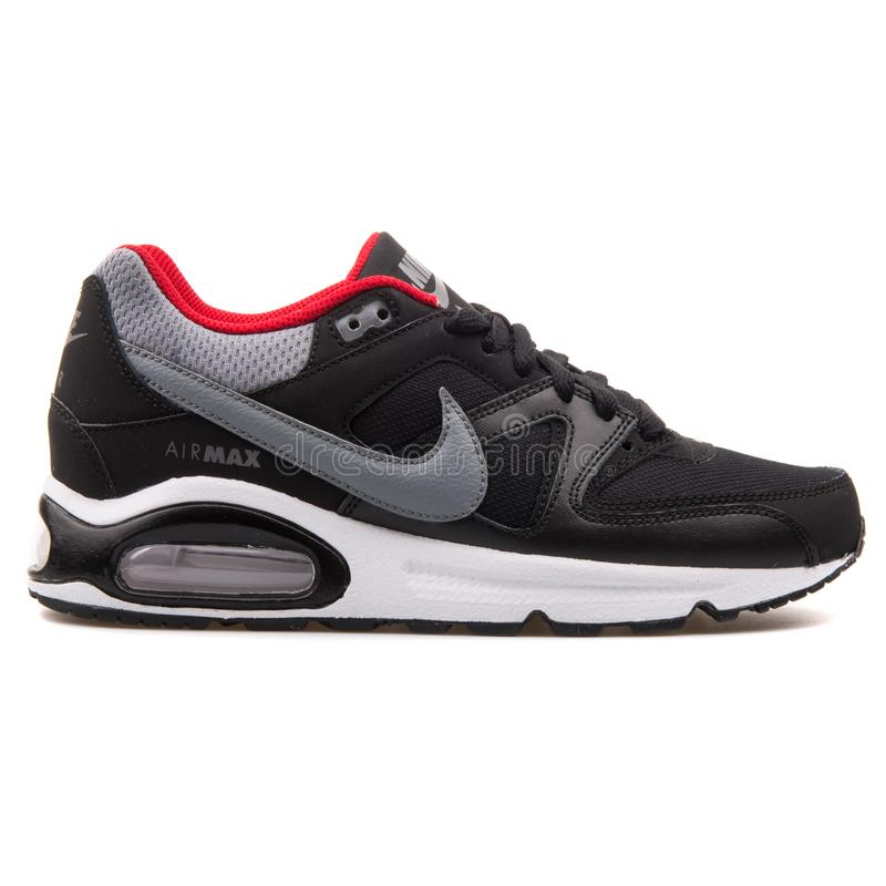Nike Air Max Command Black, Grey And Red Sneaker Editorial
