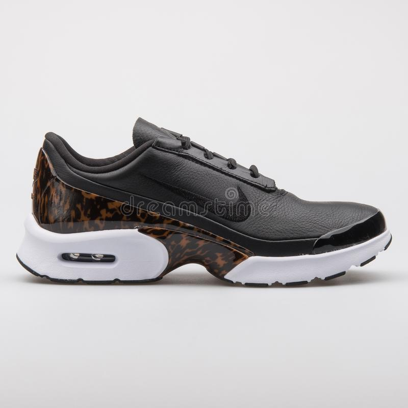 394146620f Nike Air Max Jewell LX black and white sneaker royalty free stock image