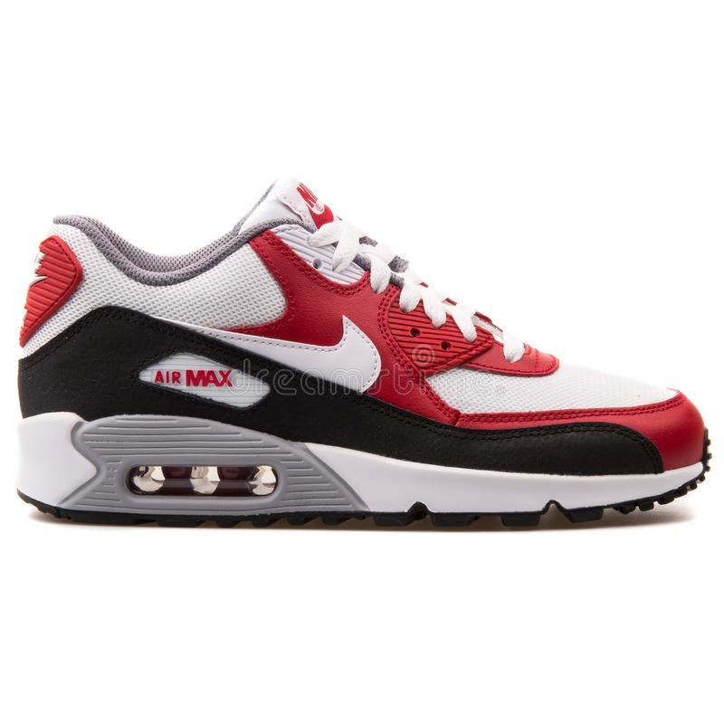 Nike Air Max 90 Mesh White, Bue And Red Sneaker Editorial