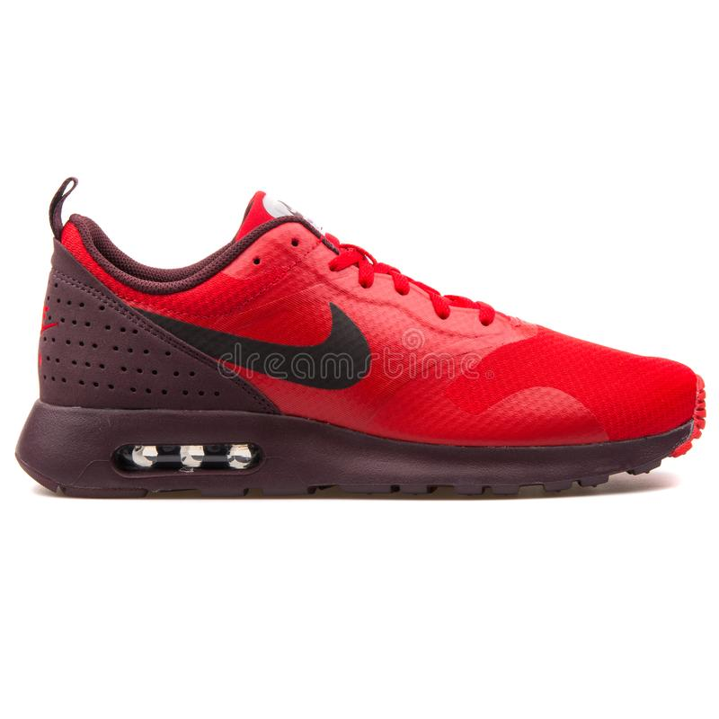 Nike Air Max Tavas Red Sneaker Editorial Photography - Image of ...
