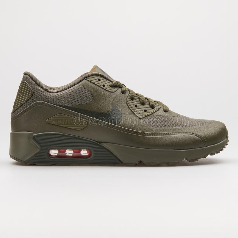 Nike Air Max 90 Ultra 2.0 WE Olive Green Sneaker Editorial Stock ...