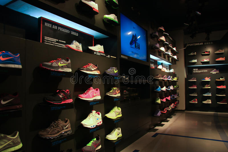 Nike armazena imagem de stock