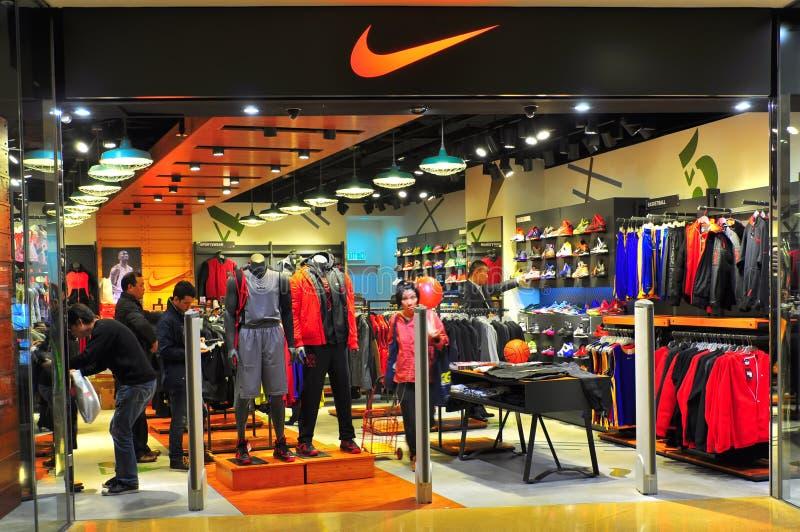 Nike-Ausgang, Hong Kong lizenzfreies stockfoto