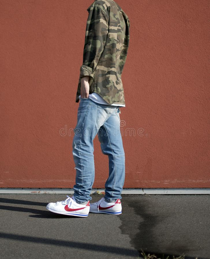 Nike Cortez imagem de stock royalty free