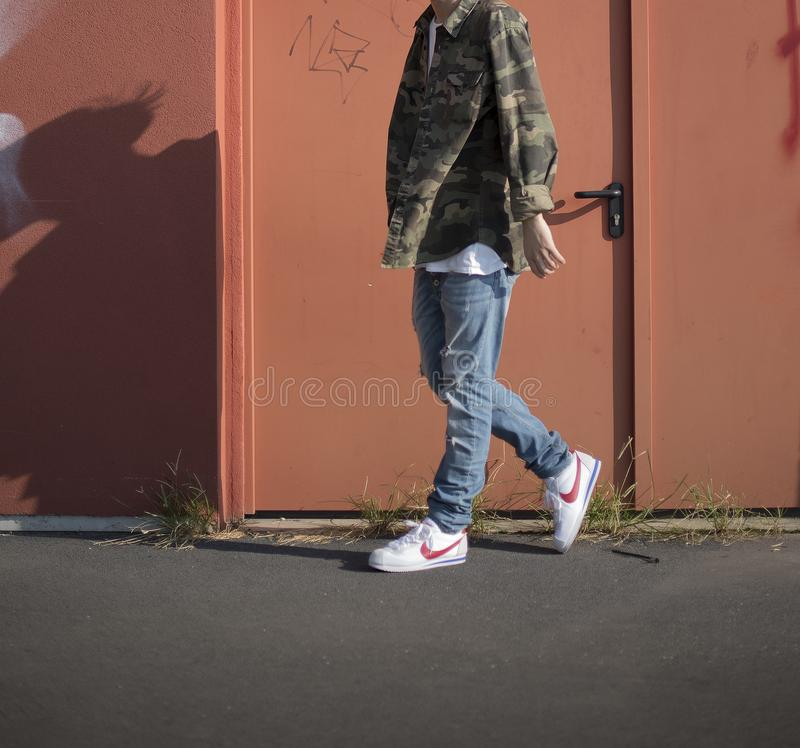 Nike Cortez arkivfoton